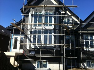 scaffolding on home