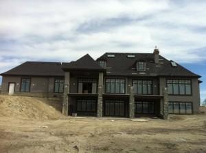 new stucco home