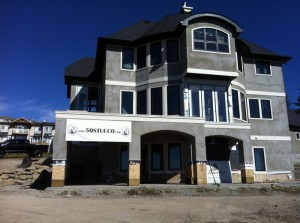 stucco house almost finished